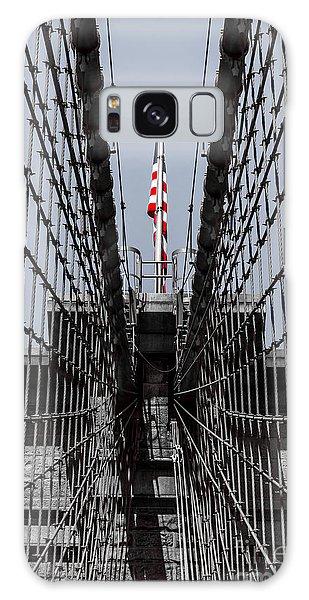 Brooklyn Bridge American Flag Galaxy Case