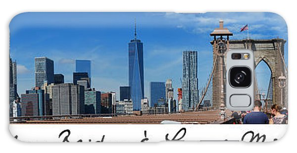 Brooklyn Bridge And Lower Manhattan Script Galaxy Case