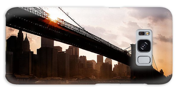 Brooklyn Bridge And Skyline Manhattan New York City Galaxy Case