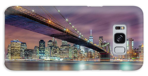 Long Exposure Galaxy Case - Brooklyn Bridge At Night by Michael Zheng