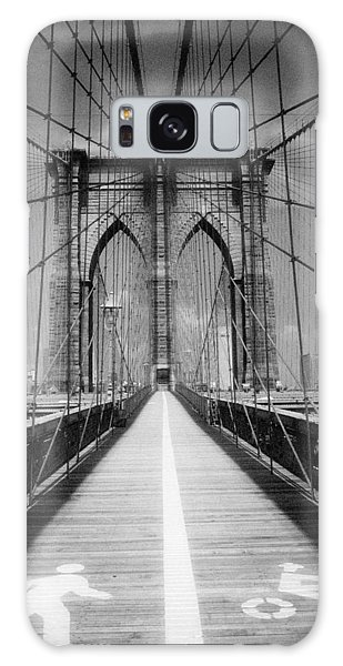 Galaxy Case featuring the photograph Brooklyn Bridge Infrared by Dave Beckerman