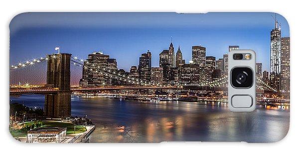Brooklyn Bridge Galaxy Case by Mihai Andritoiu