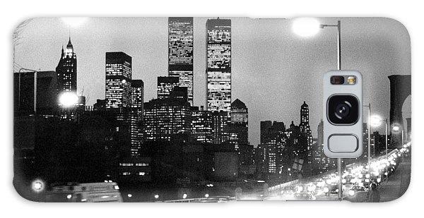 Brooklyn Bridge Traffic II Dusk 1980s Galaxy Case