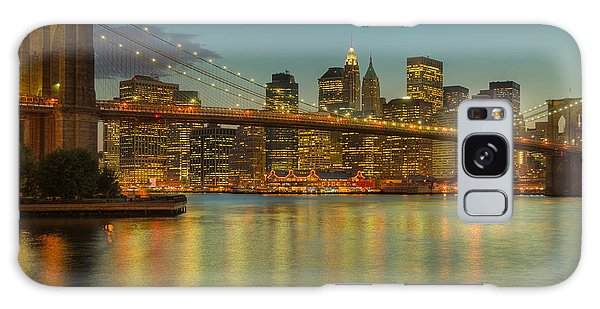 Brooklyn Bridge Twilight Galaxy Case by Clarence Holmes
