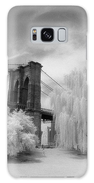 Brooklyn Bridge Willows Galaxy Case by Dave Beckerman
