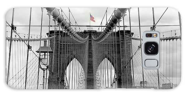 Brooklyn Bridge With American Flag Galaxy Case