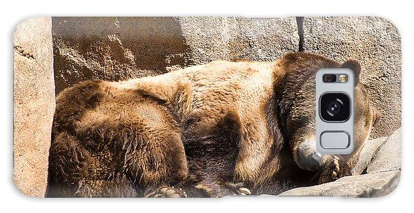 Brown Bear Asleep Again Galaxy Case by Chris Flees