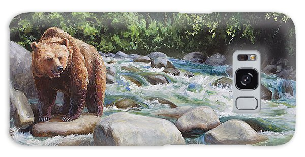 Brown Bear On The Little Susitna River Galaxy Case