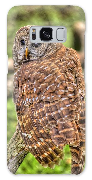 Brown Owl Galaxy Case by Donald Williams