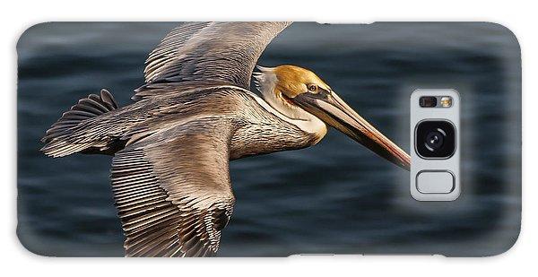 Brown Pelican Flying Galaxy Case