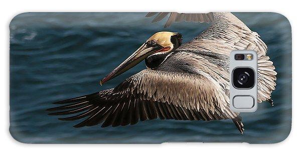 Brown Pelican Landing Galaxy Case
