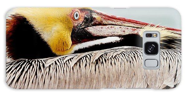 Brown Pelican Profile Galaxy Case
