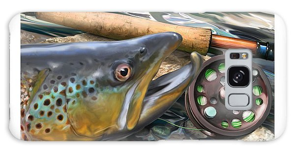 Brown Trout Sunset Galaxy Case