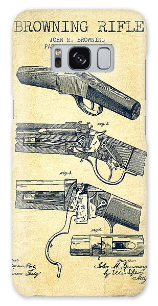 Weapons Galaxy Case - Browning Rifle Patent Drawing From 1921 - Vintage by Aged Pixel