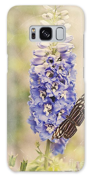 Brownish Butterfly In Delphinium Galaxy Case