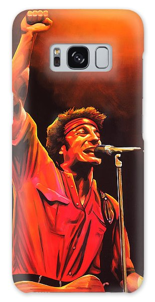 Bruce Springsteen Galaxy S8 Case - Bruce Springsteen Painting by Paul Meijering