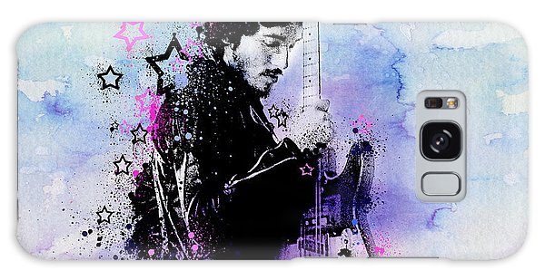 Bruce Springsteen Galaxy S8 Case - Bruce Springsteen Splats And Guitar 2 by Bekim Art