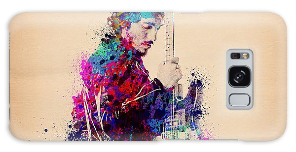 Rock And Roll Galaxy S8 Case - Bruce Springsteen Splats And Guitar by Bekim Art