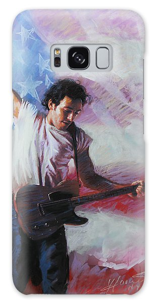 Bruce Springsteen Galaxy S8 Case - Bruce Springsteen The Boss by Viola El