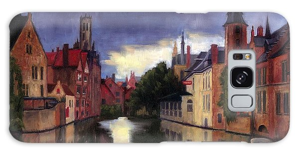 Bruges Belgium Canal Galaxy Case by Janet King