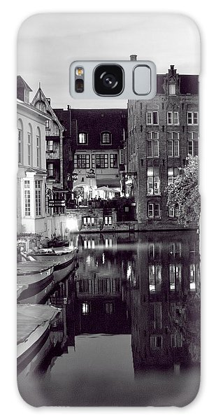 Bruges Canal In Black And White Galaxy Case
