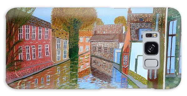 Brugge Canal Galaxy Case by Magdalena Frohnsdorff