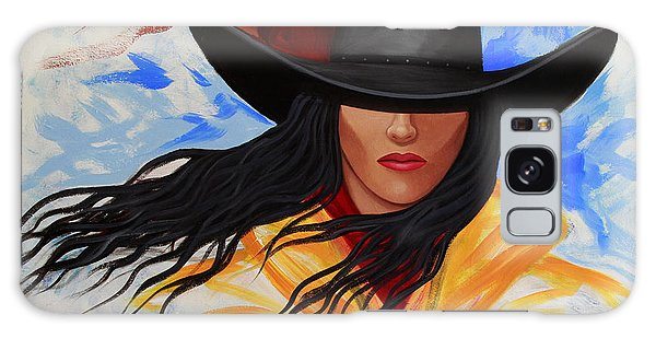 Brushstroke Cowgirl #3 Galaxy Case
