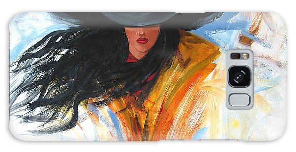Brushstroke Cowgirl Galaxy Case