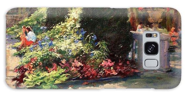 Bryant Park - Morning Light In The Garden Galaxy Case