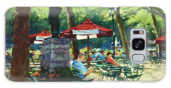 Bryant Park - The Reading Room Galaxy Case