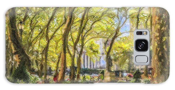 Bryant Park October Morning Galaxy Case