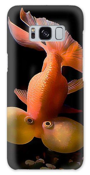 Bubble Eye Goldfish Galaxy Case by Wernher Krutein