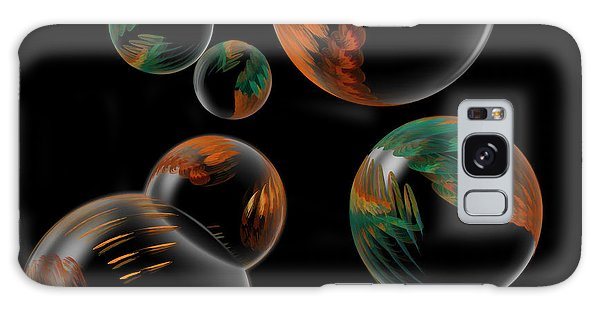 Bubble Farm Fractal Galaxy Case by Kathleen Holley