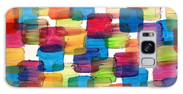 Bubble Wrap Blocks Art Abstract Paintings Splashyart.com Galaxy Case