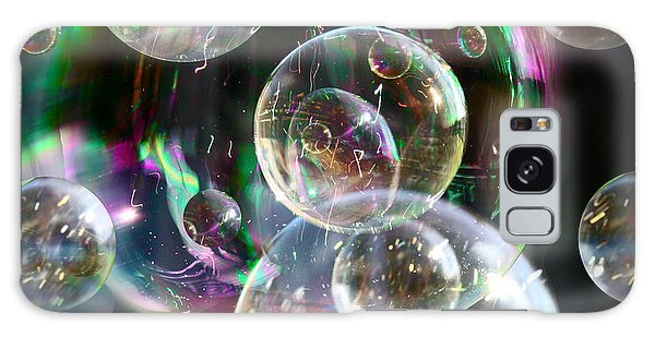 Bubbles And More Bubbles Galaxy Case by Nareeta Martin