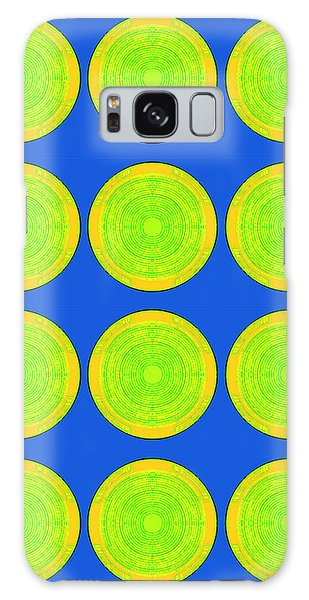 Bubbles Lime Blue Warhol  By Robert R Galaxy Case