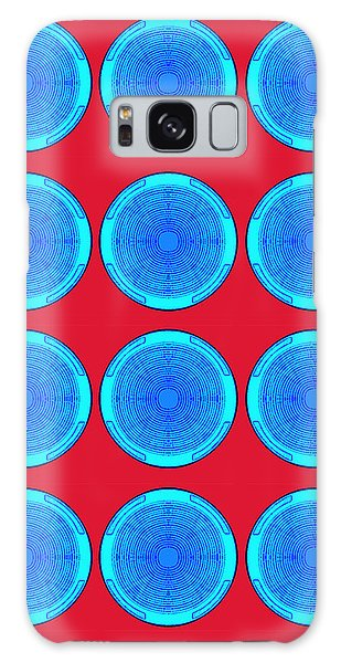 Bubbles Minty Blue Poster Galaxy Case
