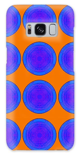 Bubbles Orange Blue Warhol  By Robert R Galaxy Case