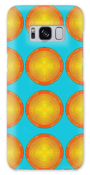 Bubbles Sky Orange Blue Warhol  By Robert R Galaxy Case