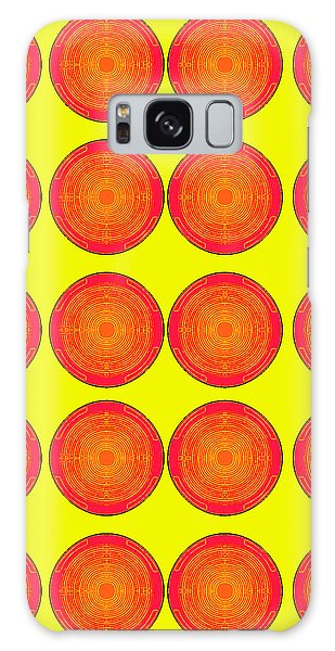 Bubbles Sunny Oranges Warhol  By Robert R Galaxy Case