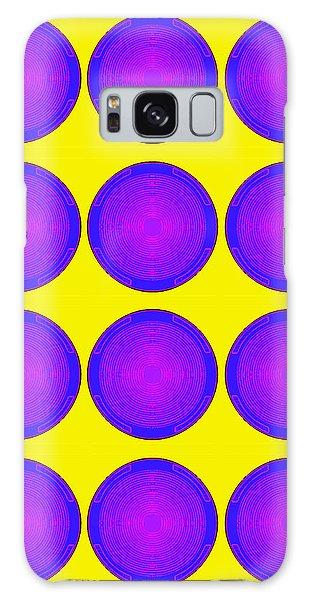 Bubbles Sunny Purple Blue Warhol  By Robert R Galaxy Case