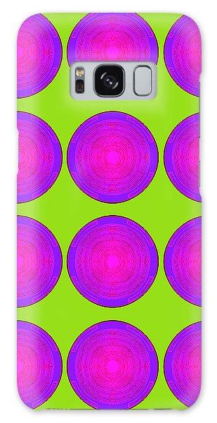 Bubbles Lime Purple Poster Galaxy Case