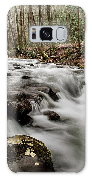 Bubbling Mountain Stream Galaxy Case by Debbie Green