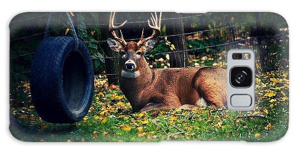 Buck In The Back Yard Galaxy Case