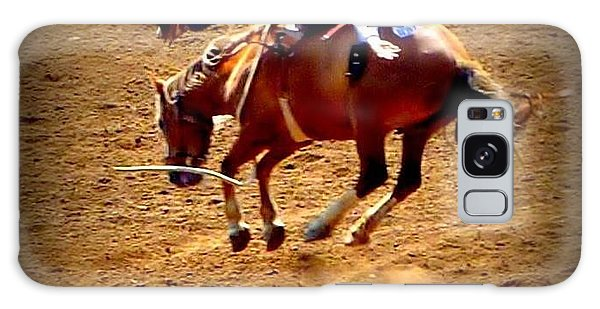 Bucking Broncos Rodeo Time Galaxy Case by Susan Garren