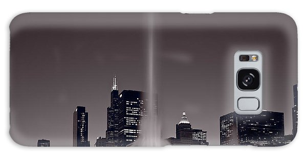 Evening Galaxy Case - Buckingham Fountain Nightlight Chicago Bw by Steve Gadomski
