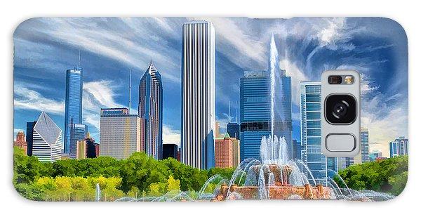 Buckingham Fountain Chicago Skyscrapers Galaxy Case