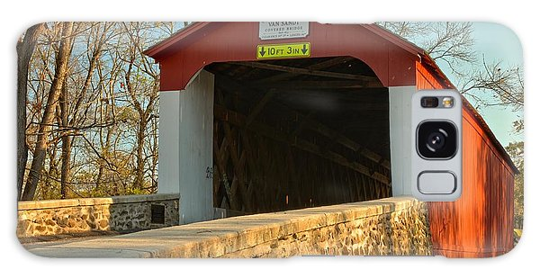 Bucks County Van Sant Covered Bridge Galaxy Case