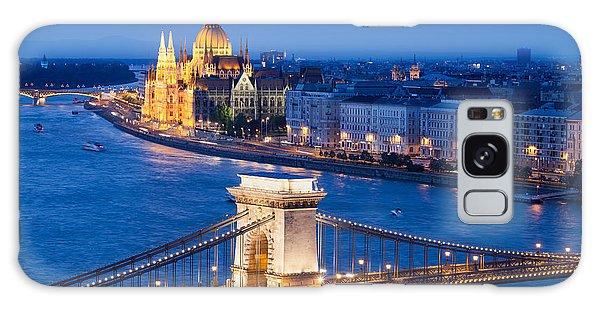 Budapest Cityscape At Night Galaxy Case