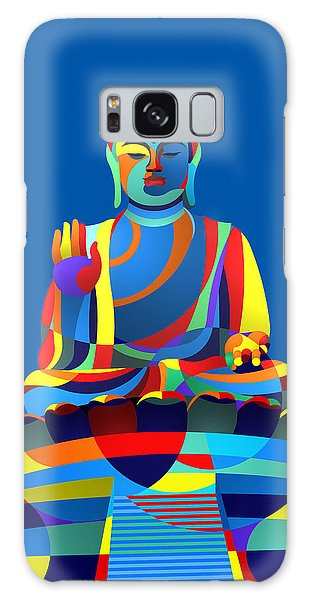 Buddha Blue Galaxy Case by Randall Henrie